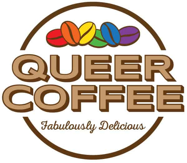 Queer Coffee logo by Cory Burgess
